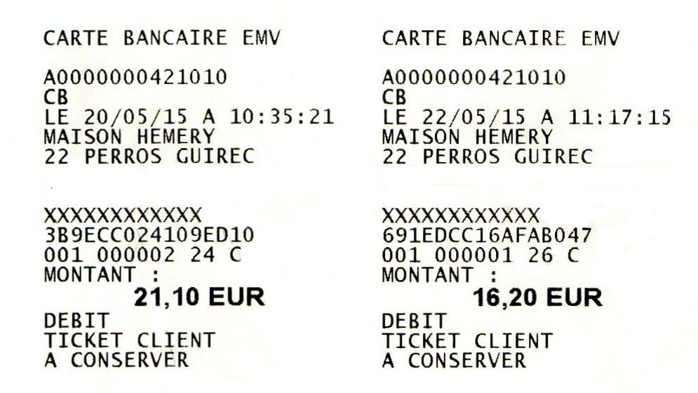 Les tickets d'achats