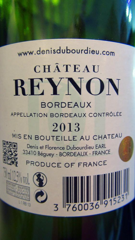 Bordeaux blanc Château Reynon 2013