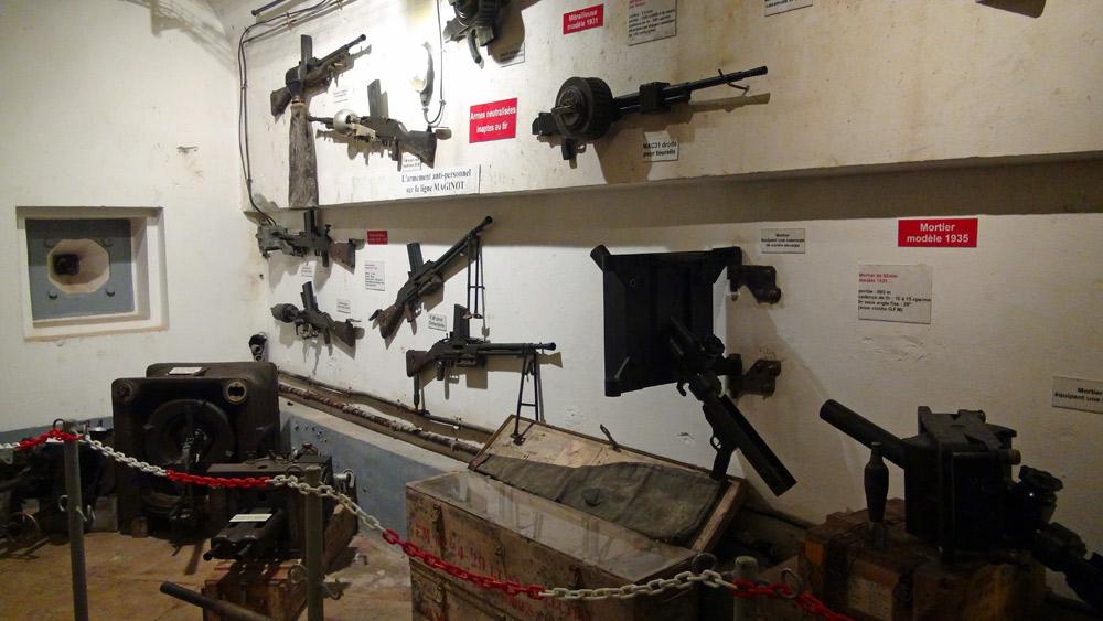 Quelques unes des armes utilisées