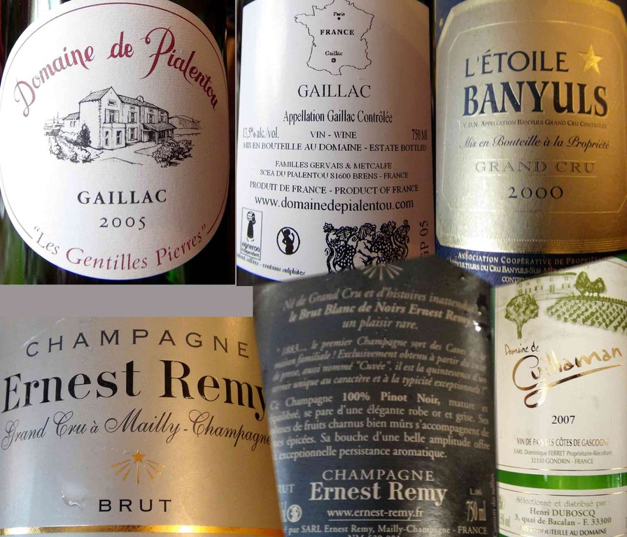Les vins servis, suite