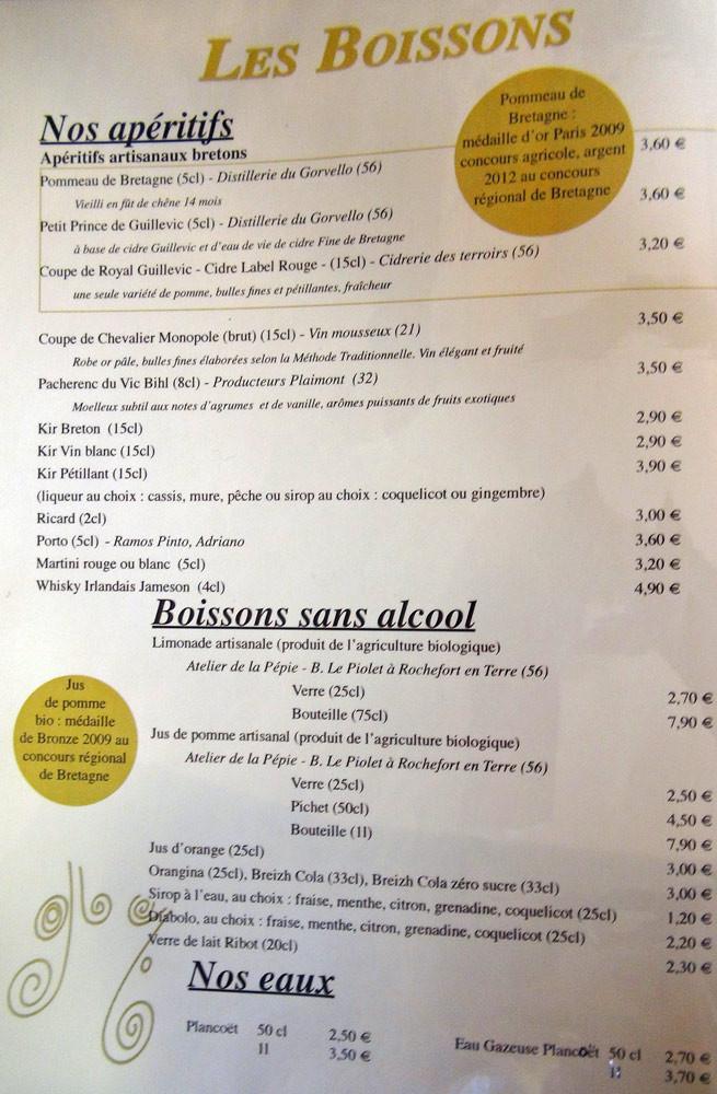 Apéritifs & boissons sans alcool