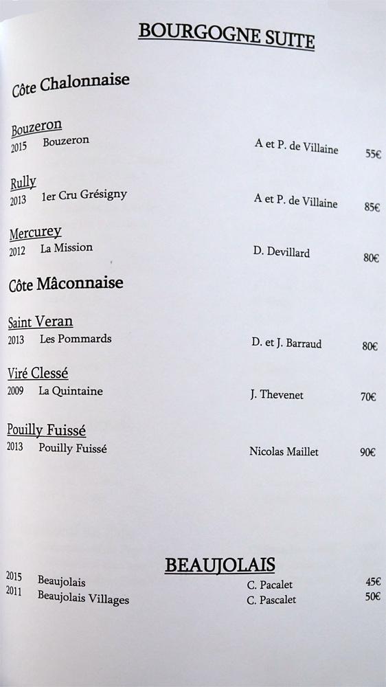 Bourgogne suite + Beaujolais (8 références)