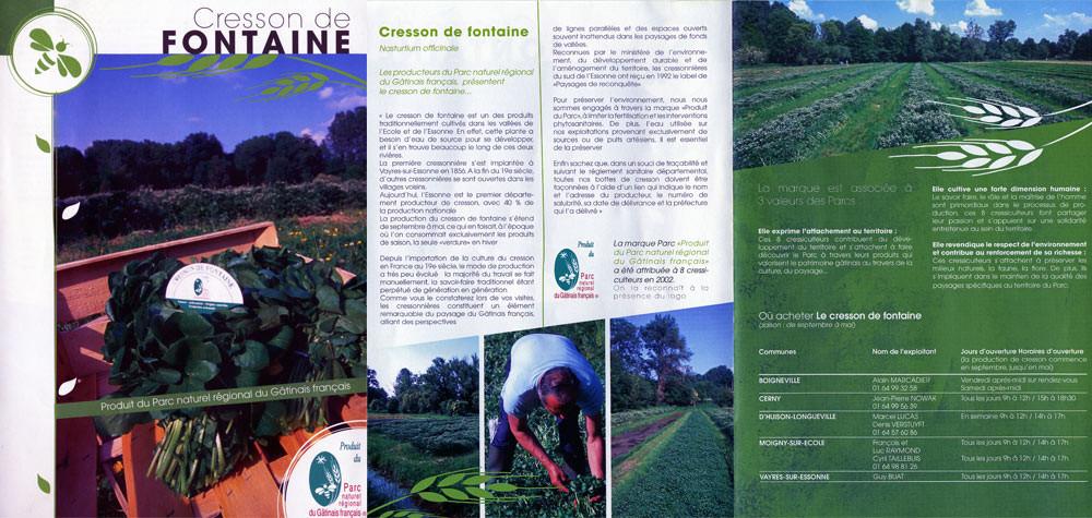 """Le cresson dans le """"PNR du Gâtinais français®"""""""