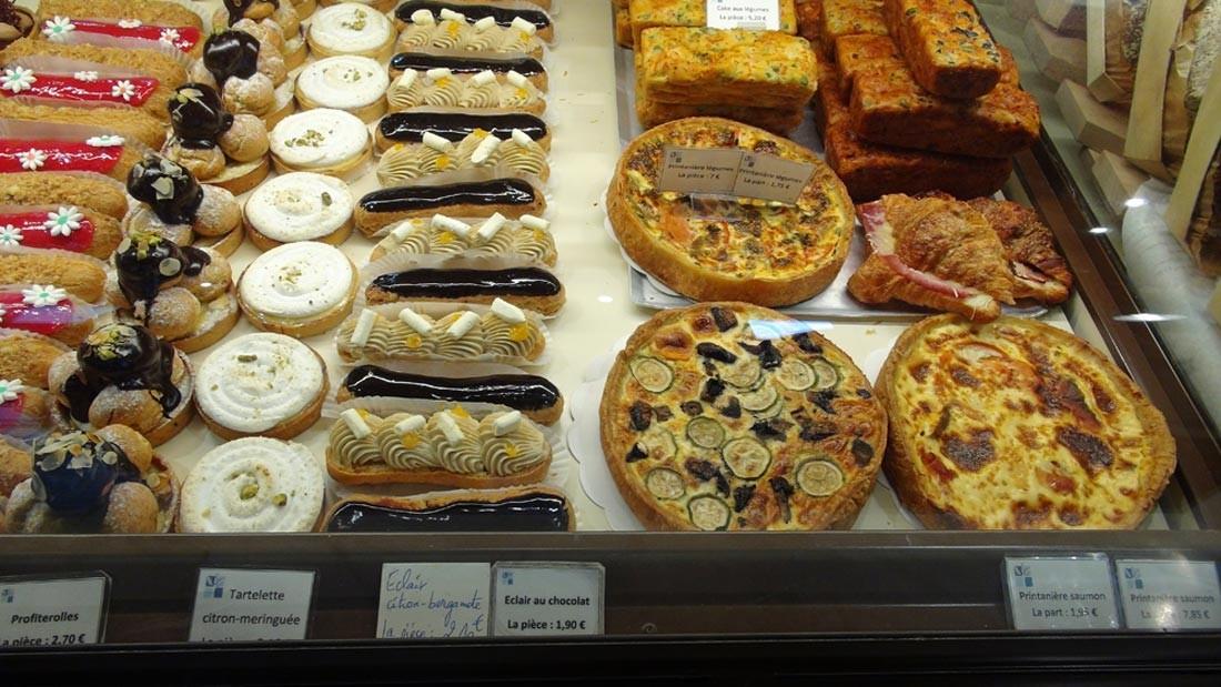 Pâtisseries et plaisirs salés