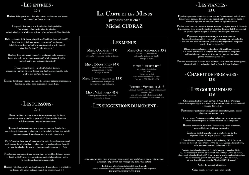 Carte & Menus