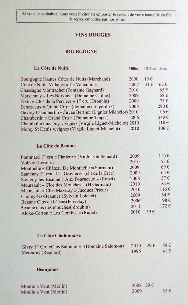 """Vins rouges """"Bourgogne"""""""