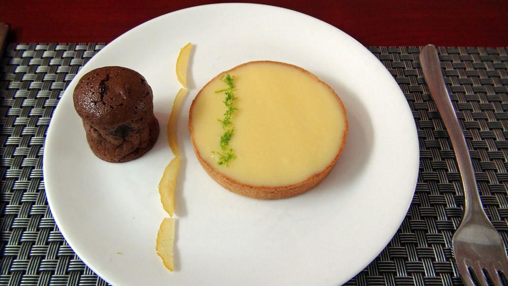 Tarte au citron et son moelleux au chocolat