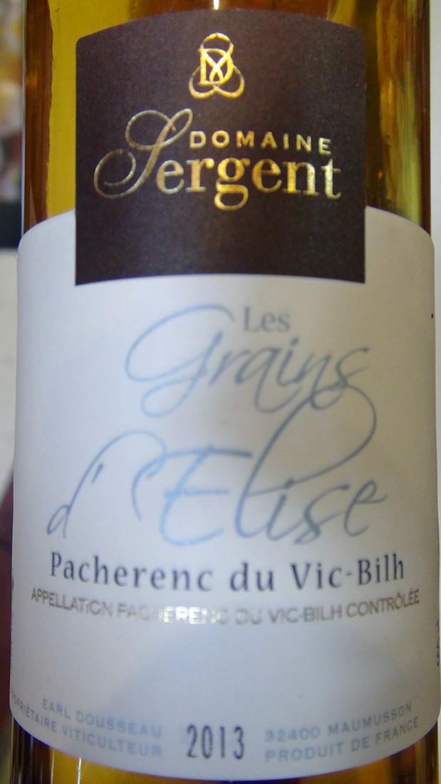 """Pacherenc du Vic Bihl """"Grains d'Elise"""""""