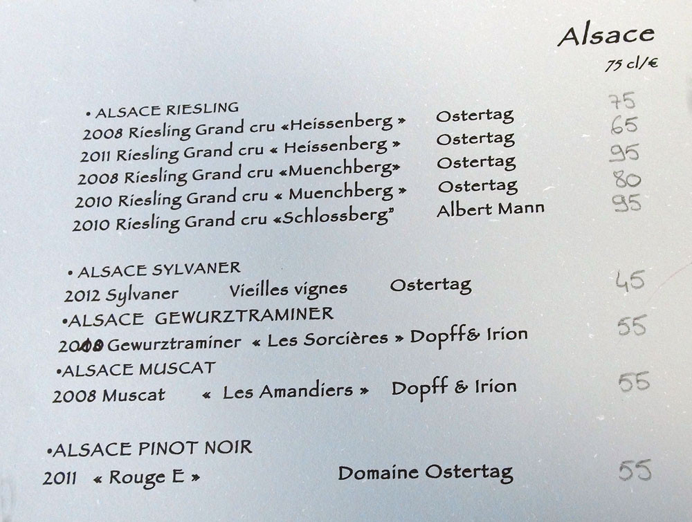 Vins d'Alsace blancs