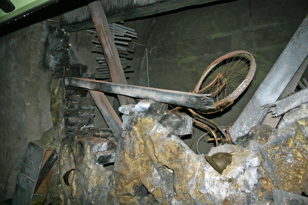 Dans l'un des tunnels