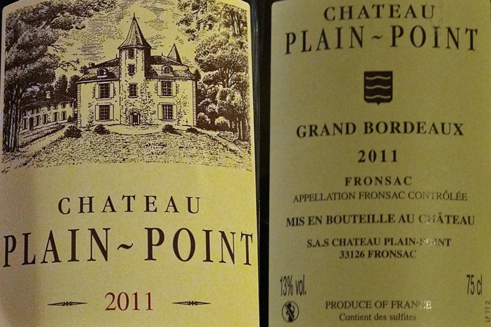 Fronsac 2011 Plain-Point