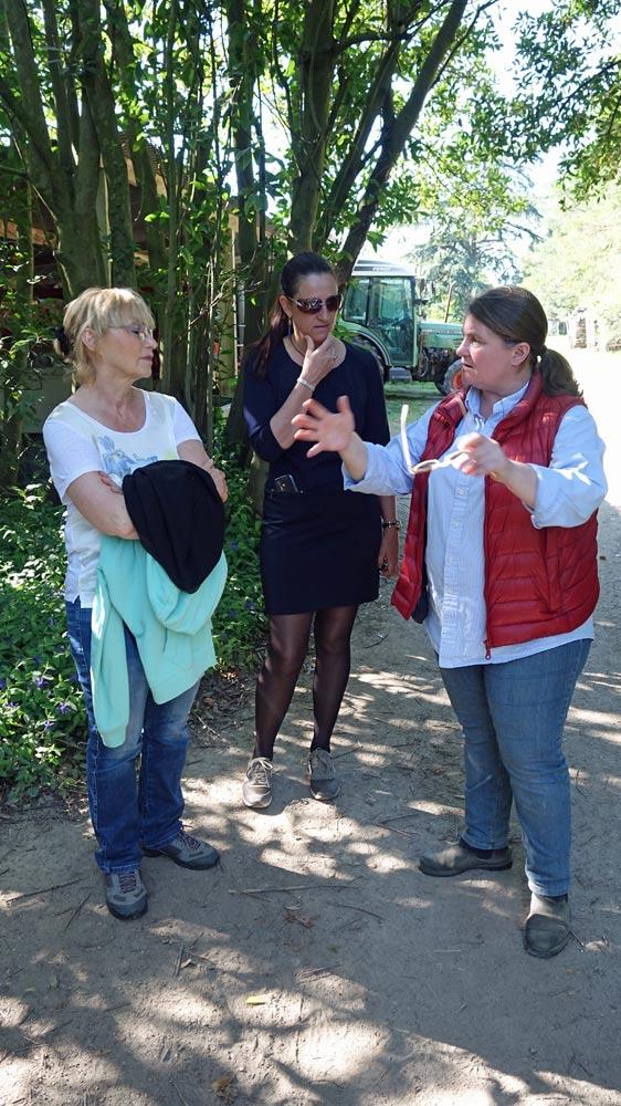 Trois femmes de tête : Pascale, Mathilde Favre d'Anne et Tessa Laroche