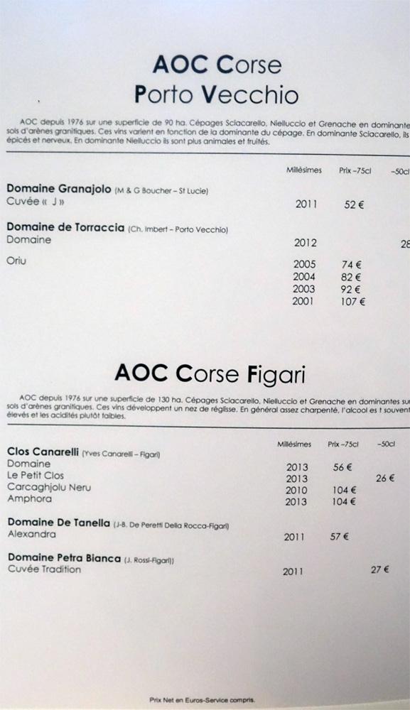 Vins rouges de Porto- Vecchio et Figari