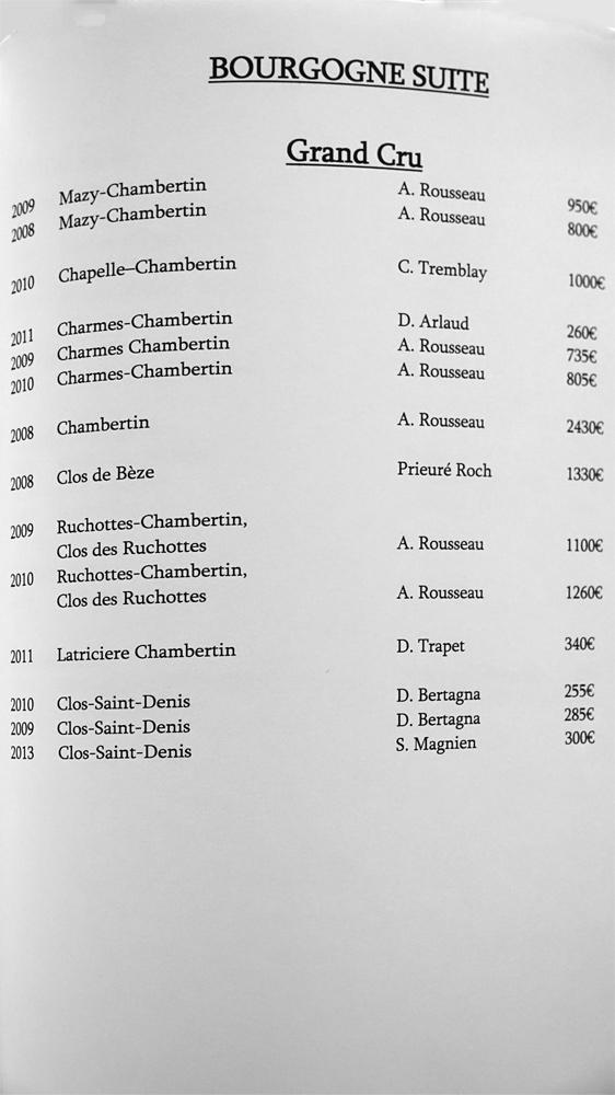 Bourgogne gd cru suite (14 références)