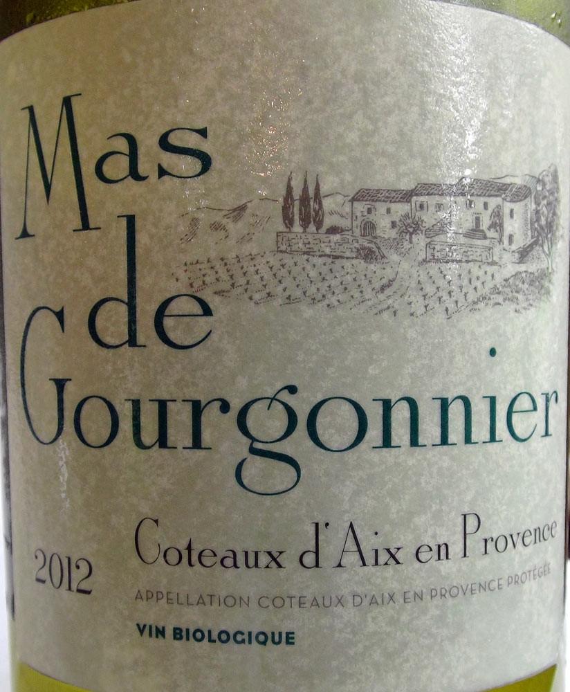 """Côteaux d'Aix-en-Provence 2012 """"Mas de Gourgonnier"""" (Sauvignon, grenache blanc & rolle)"""