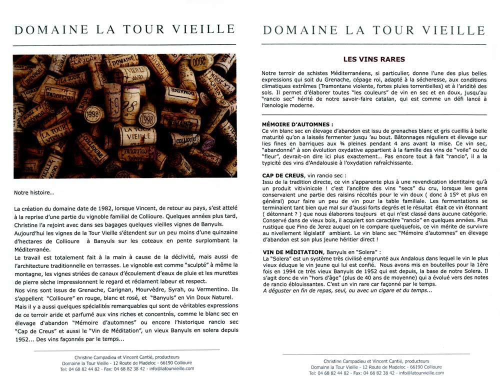 Présentation du Domaine de la Tour Vieille