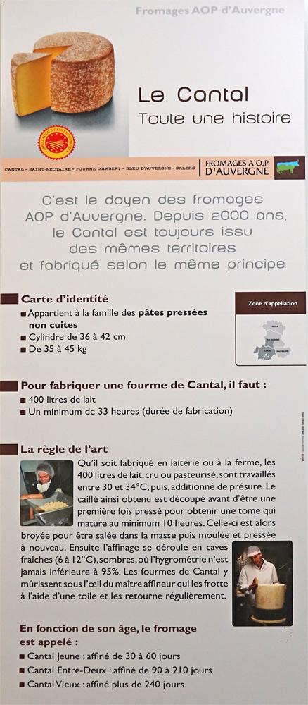 Infos sur le Cantal