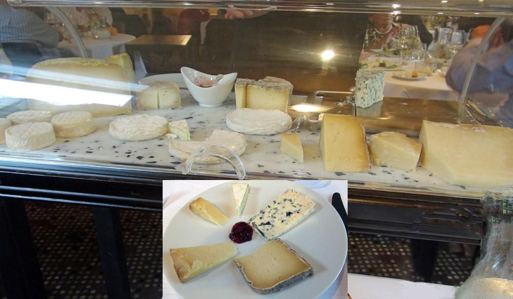 Le chariot de fromages et mon choix