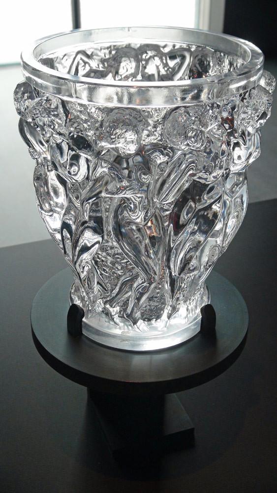 Vase en cristal une fois poli