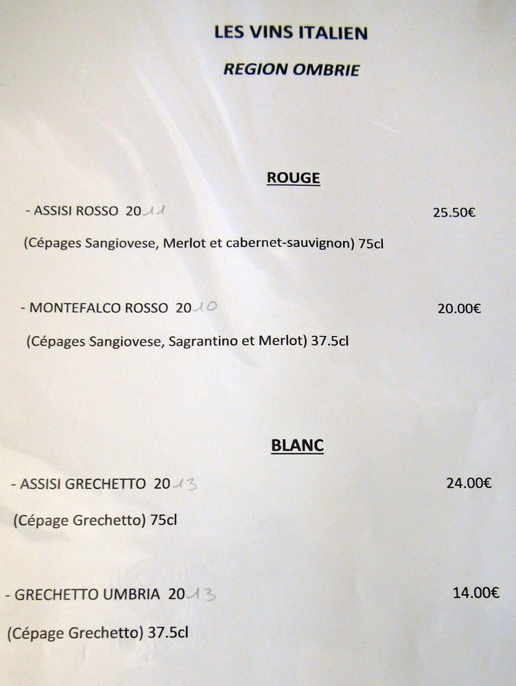 Vins Italiens rouge & blanc