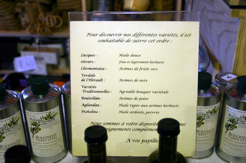Propriétés et qualités des huiles