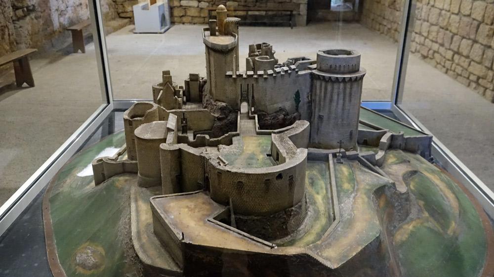Maquette du château sous un troisième angle