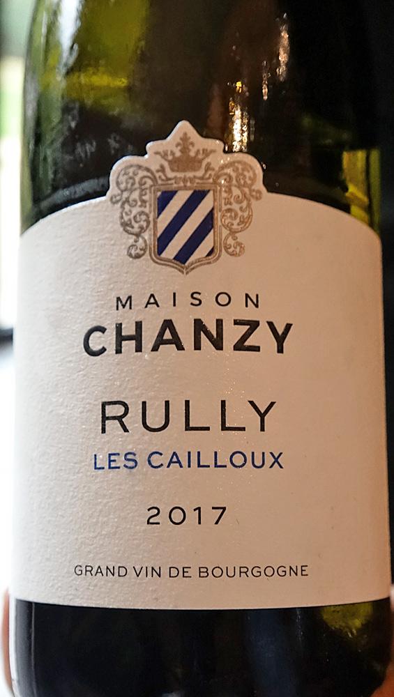Contre étiquette du Rully blanc