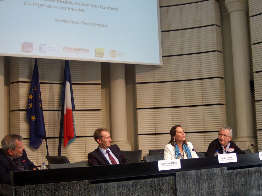 Périco Légasse - Guillaume Garot (Ministre délégué à l'Agroalimentaire) - Ségolène Royal - Votre serviteur