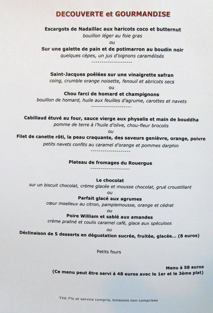 """Menu """"Découverte & Gourmandise"""""""