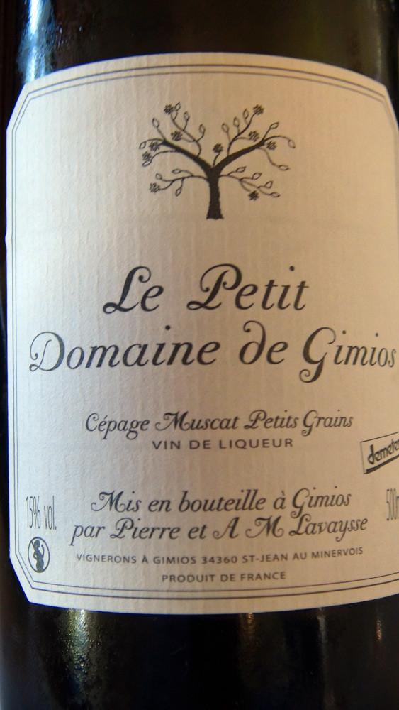 Vin de liqueur Le Petit domaine de Gimios