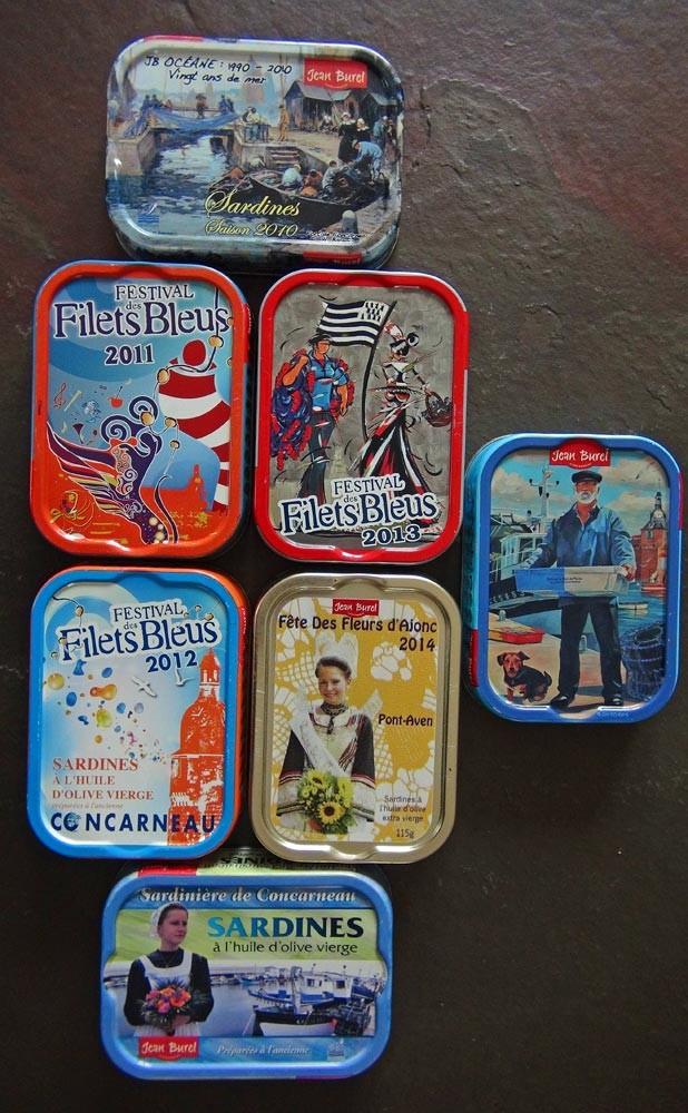 Echantillonnage de boîtes de sardines