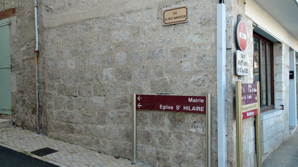 La rue du Petit Rapporteur (inaugurée en avril 2007, en présence de Pierre Bonte)