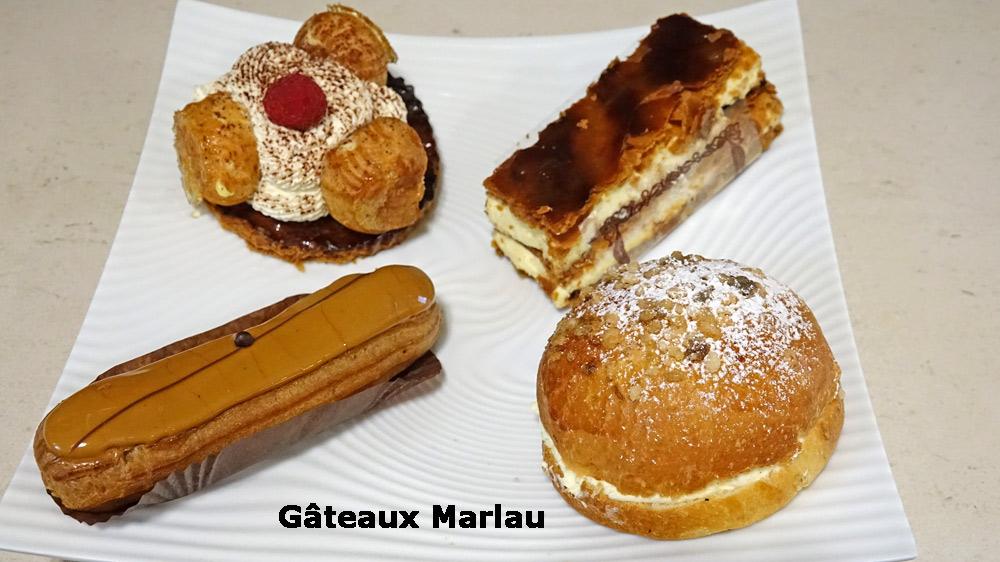 Les pâtisseries de Marlau achetées le 12 octobre 2019