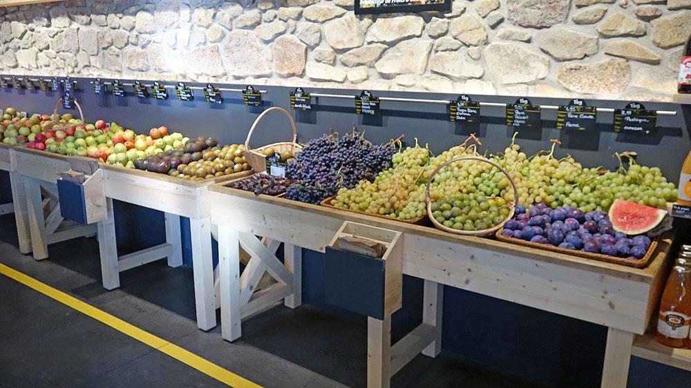 Le rayon fruits et légumes