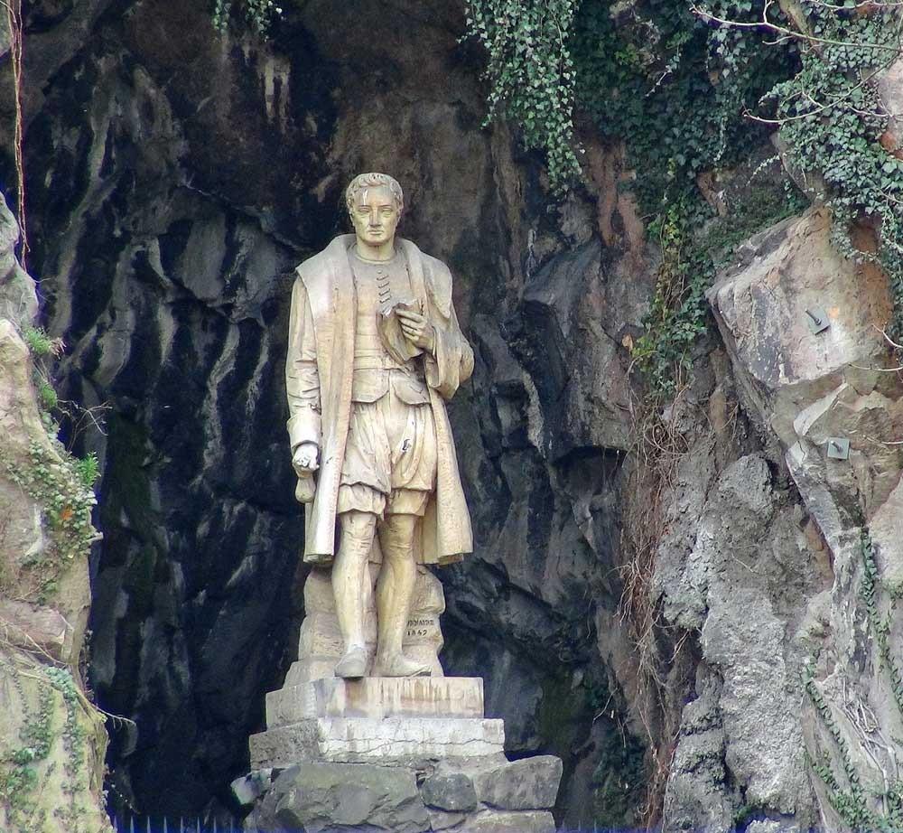 Balade sur la Saône : statue de l'Homme de la Roche - Jean Kleberger, dit le bon allemand