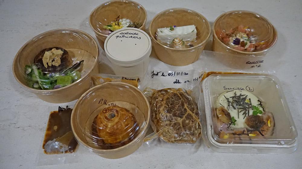 Les plats commandés
