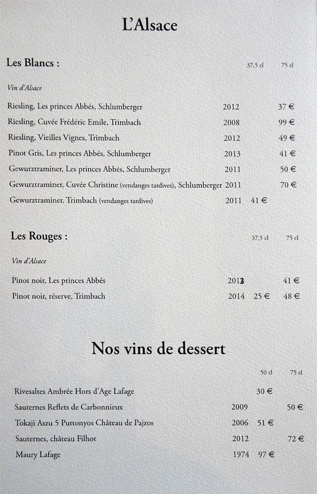 Alsace et Vins de desserts