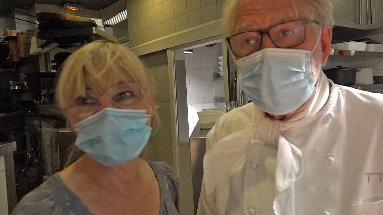 Pascale et Pierre Gagnaire en cuisine
