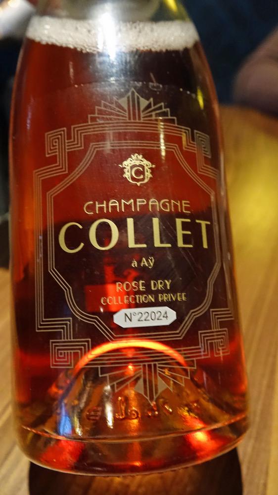Champagne sur le 5 ème acte (dessert)