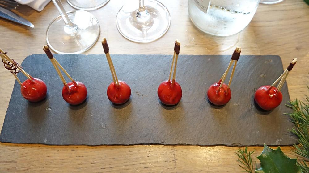 Pressé de foie gras (de canard !)/rillons fumé(s)/truffe, gelée à l'épine de Touraine