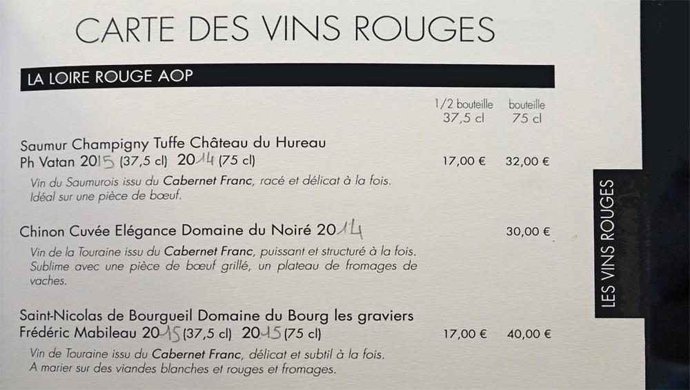 Vins rouges - Loire