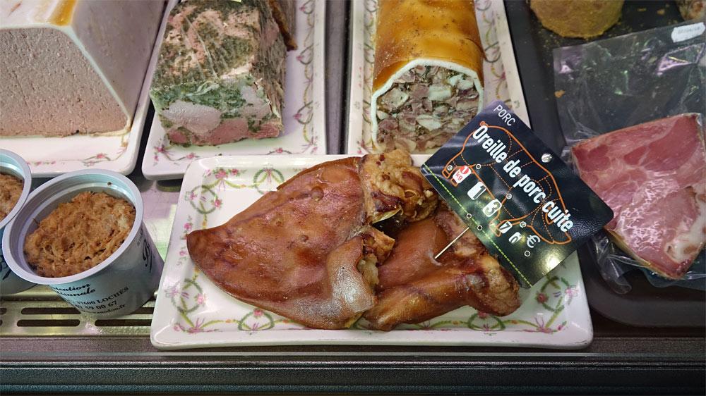 Oreille de porc cuite