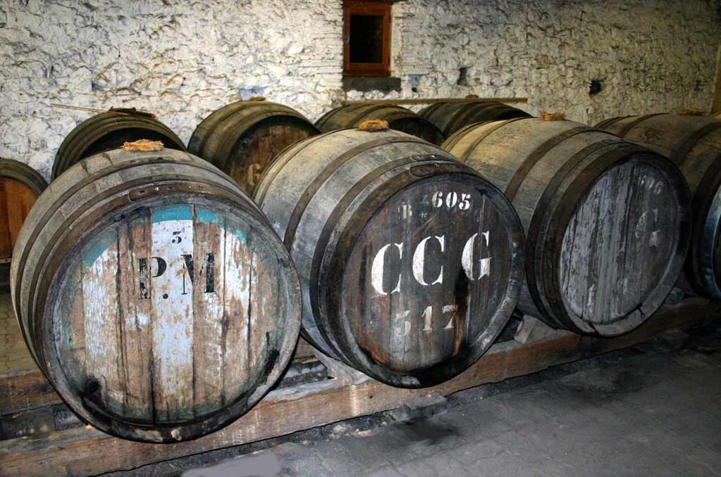 Les barriques de vin de voile