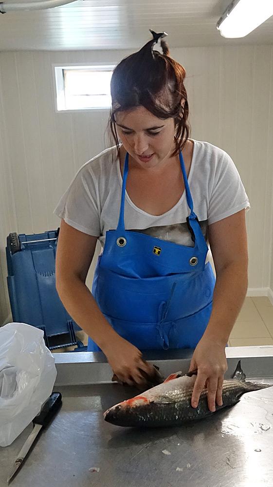 Julie Arnoult à la préparation du Mulet de Loire
