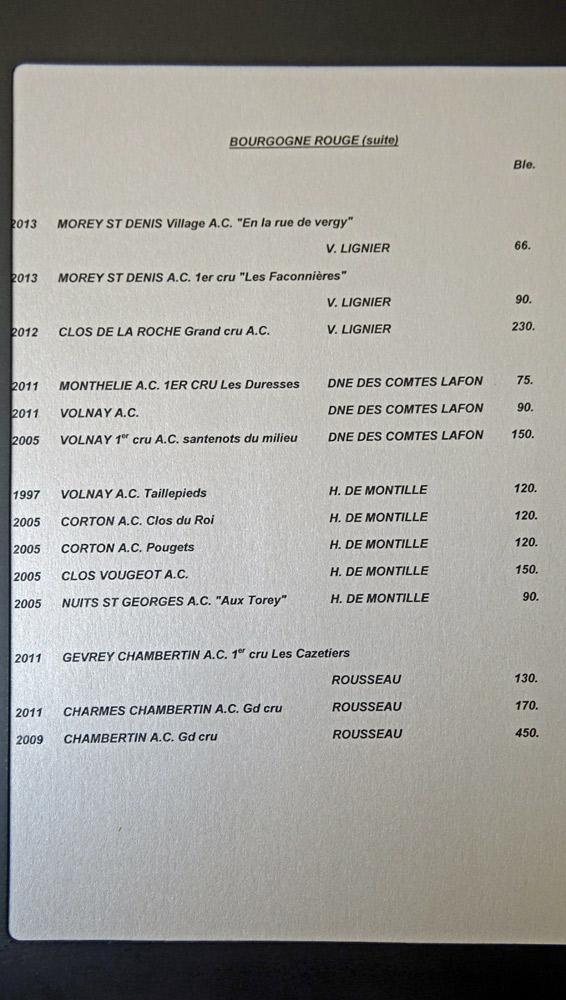 Vins rouges de Bourgogne, suite