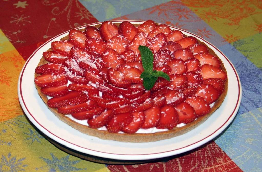 La tarte aux fraises de bienvenue