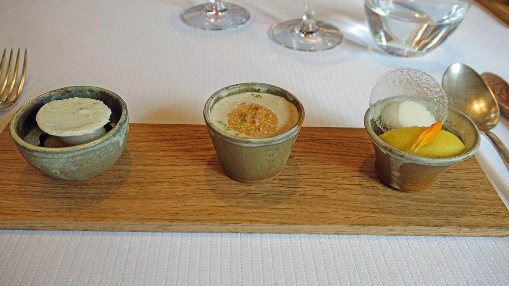 Trois pré-desserts