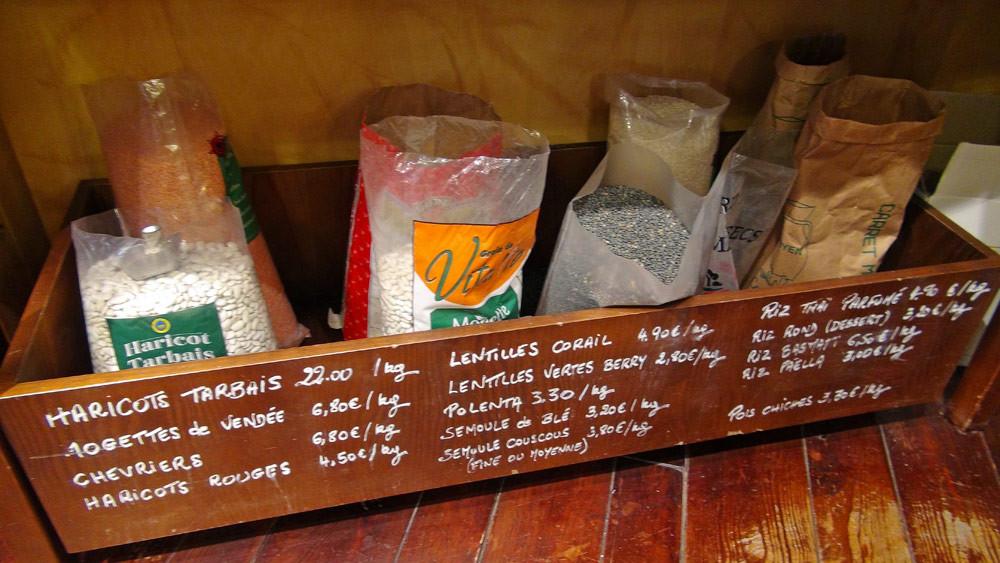 Haricots, lentilles, riz ... au détail