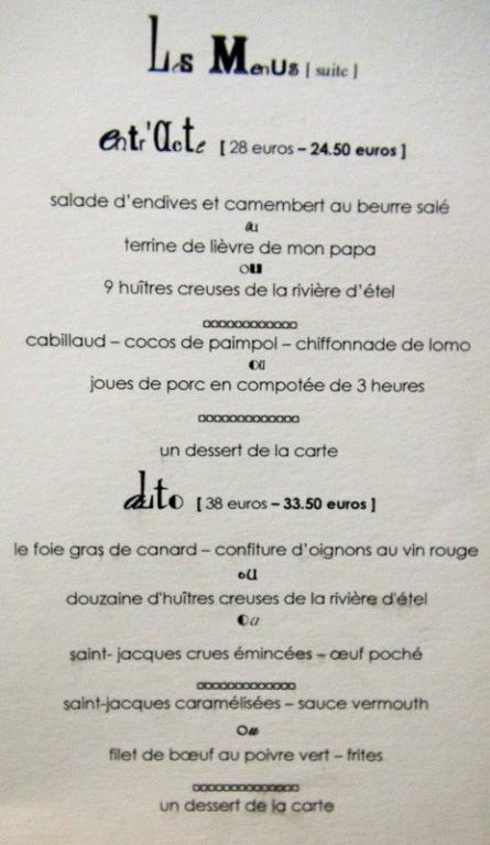 Autres menus