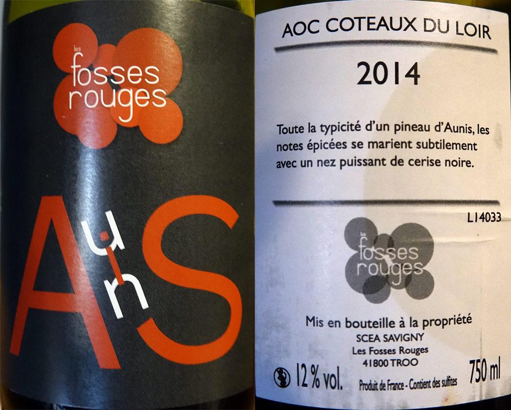 """Coteaux du Loire 2014 """"Les Fosses Rouges"""" - SCEA Savigny"""